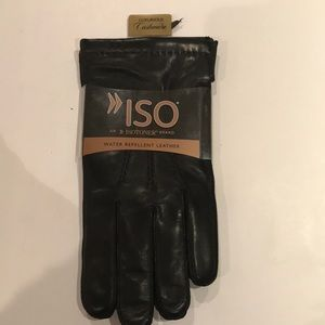 NWT$75 ISO WATER REPELLENT LEATHER CASHMERE LINED